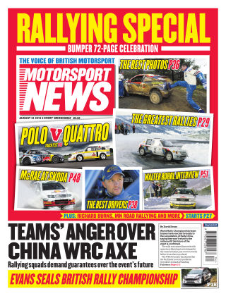 Motorsport News 24th August 2016