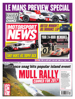Motorsport News 7th June 2017