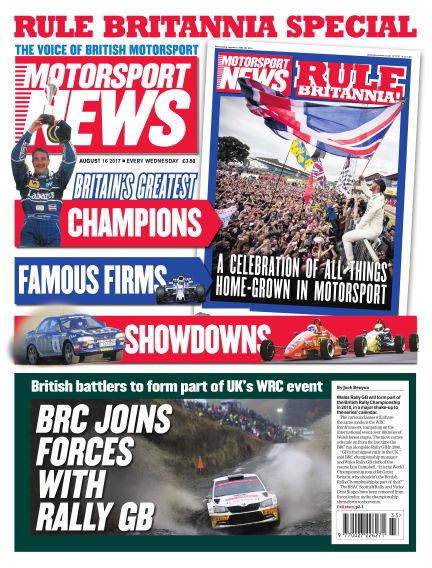 Motorsport News August 16, 2017 00:00