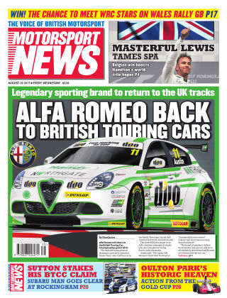 Motorsport News 30th August 2017