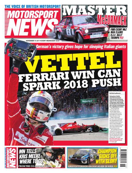 Motorsport News November 15, 2017 00:00