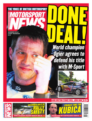 Motorsport News 29th November 2017
