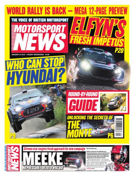 Motorsport News January 24, 2018 00:00