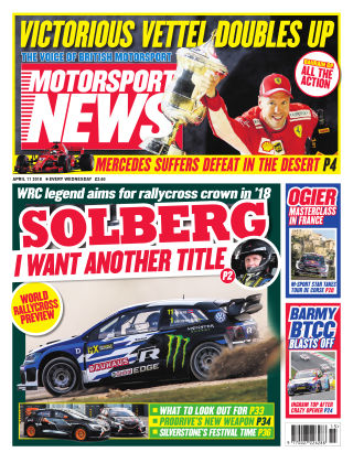 Motorsport News 11th April 2018