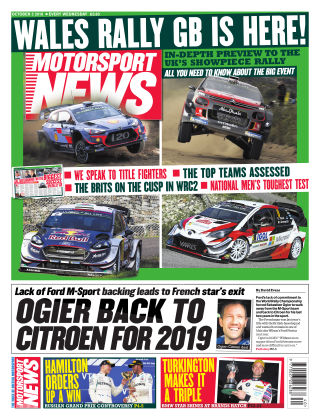 Motorsport News 3rd October 2018