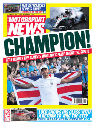 Motorsport News 31st October 2018