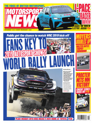 Motorsport News 7th November 2018