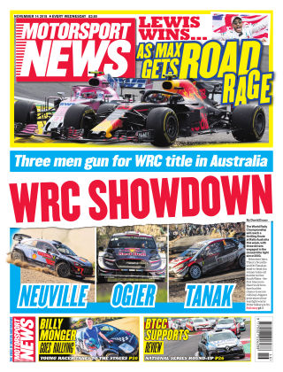 Motorsport News 14th November 2018