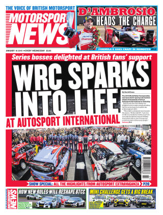 Motorsport News 16th January 2019