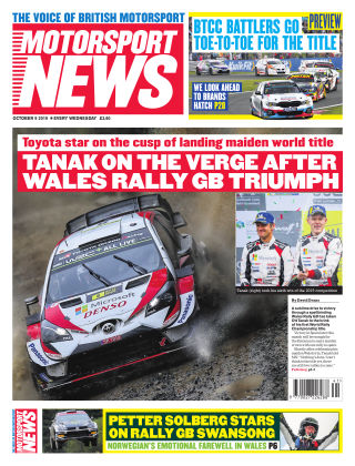 Motorsport News 19th October 2019