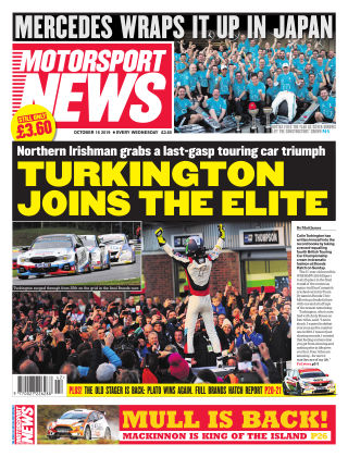 Motorsport News 16th October 2019