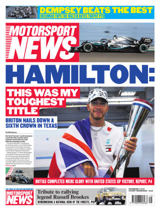 Motorsport News 6th November 2019