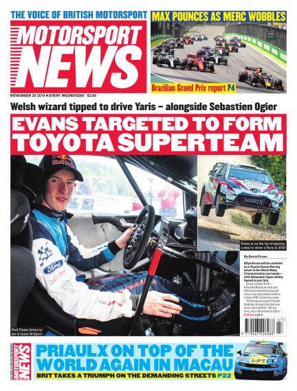 Motorsport News November 20, 2019 00:00