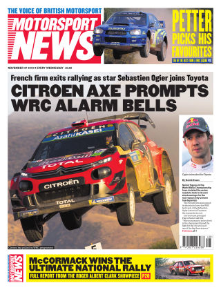 Motorsport News 27th November 2019
