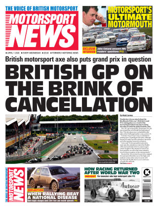 Motorsport News 1 April 2020