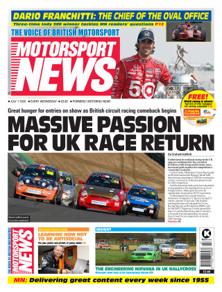 Motorsport News 1 July 2020