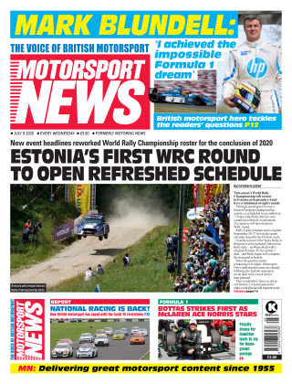 Motorsport News 8 July 2020