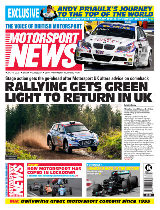 Motorsport News 15 July 2020