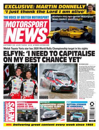 Motorsport News 3 September 2020