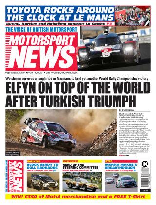 Motorsport News 24 September 2020