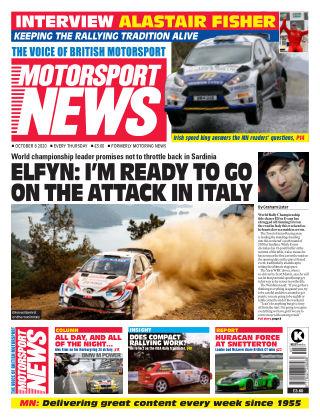 Motorsport News 8 October 2020