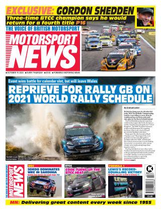 Motorsport News 15 October 2020
