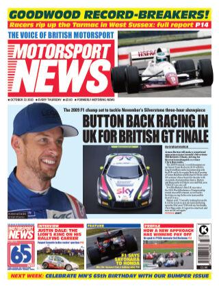 Motorsport News 22 October 2020