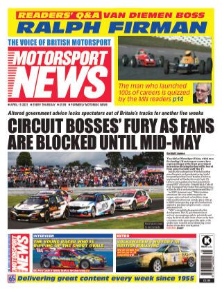 Motorsport News 15 April 2020