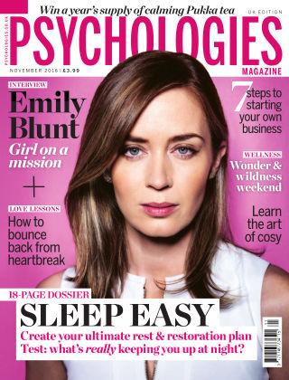 Psychologies Magazine November 2016