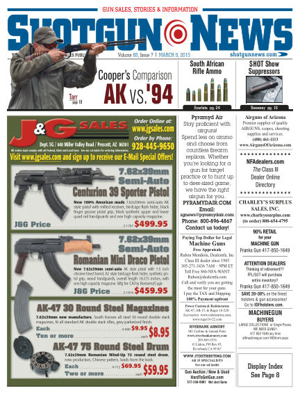 Firearms News March 03, 2015 00:00