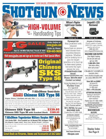 Firearms News November 03, 2015 00:00