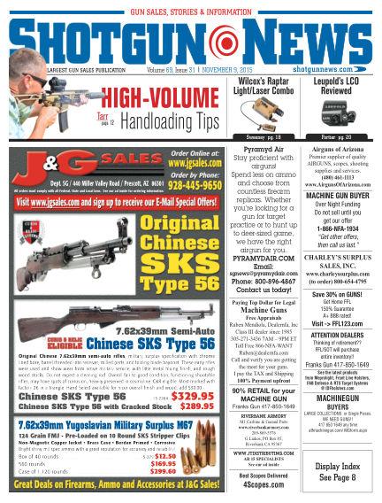 Firearms News November 03, 2015 00:00