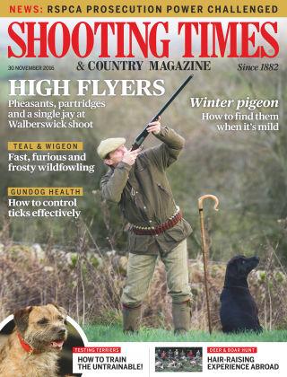 Shooting Times & Country Magazine 30th November 2016