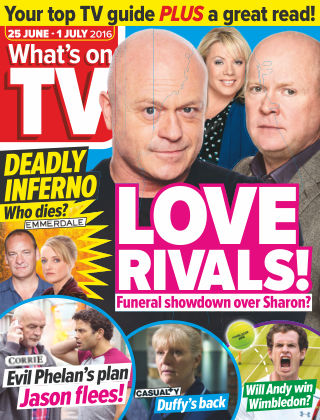 What's on TV 25th June 2016