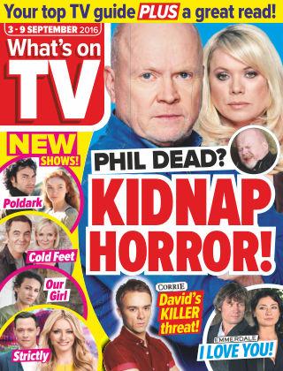 What's on TV 3rd September 2016