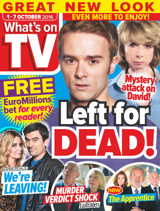 What's on TV 1st October 2016