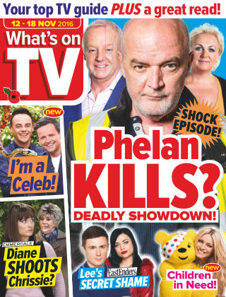 What's on TV 12th November 2016