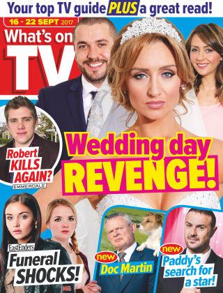 What's on TV 16th September 2017