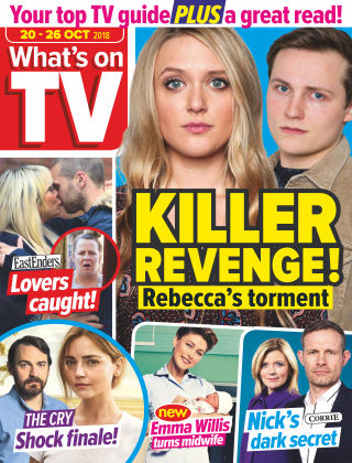 What's on TV 20th October 2018