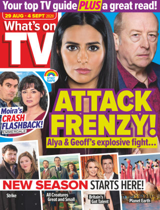 What's on TV 29th August 2020