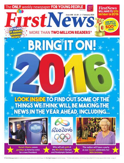 First News January 01, 2016 00:00
