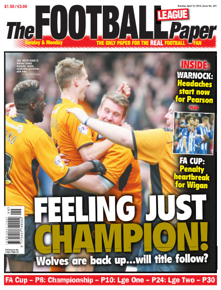 The Football League Paper April 13, 2014 00:00