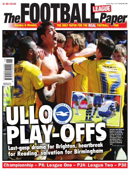 The Football League Paper May 04, 2014 00:00