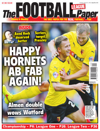 The Football League Paper 31st August 2014