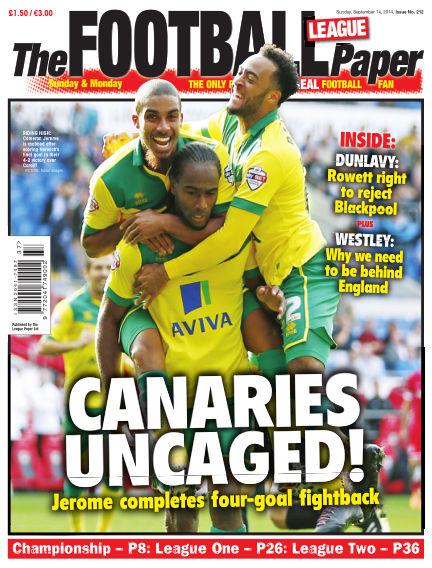 The Football League Paper September 14, 2014 00:00