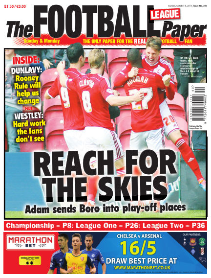 The Football League Paper October 05, 2014 00:00