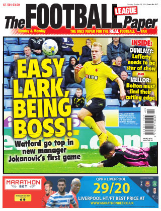 The Football League Paper 19th October 2014