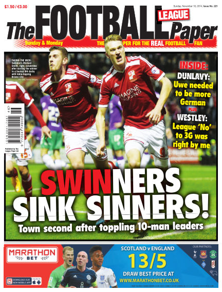 The Football League Paper November 16, 2014 00:00