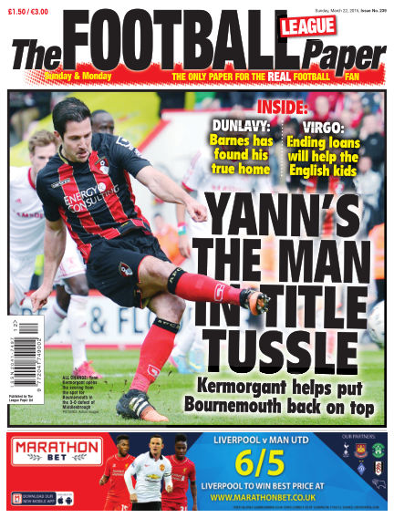 The Football League Paper March 22, 2015 00:00