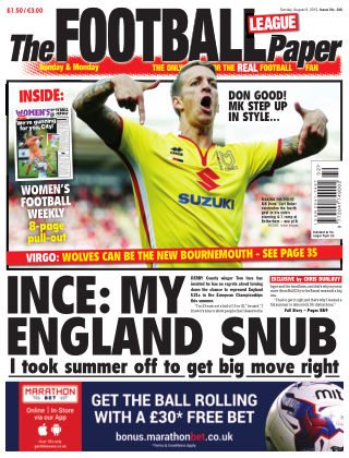 The Football League Paper 9th August 2015